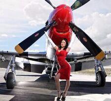 Aircraft Airplane Model Diecast WW2 Vintage b War Bird 721 48 Carousel Red 17