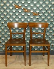 Set von 2 vintage Stuhl Klassiker Küchenstuhl Frankfurter Küche Holz shabby chic
