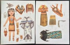American Indian Girl Paper Doll by Stella Thurman, Mag. Pd. 2014