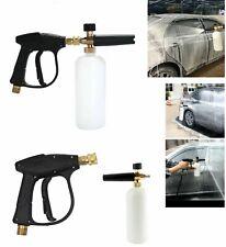 "Spray Pressure Washer Gun 1/4"" Car Wash Lance Soap Snow Foam Cannon Cleaning Kit"