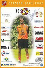 FOOTBALL carte joueur QUINCY VAN OMMEREN équipe FC VOLENDAM signée