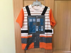 NEW Disney Store Star Wars Poe Shirt Boys Tee Shirt Top