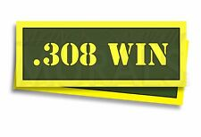 """.308 WIN Ammo Can Labels for Ammunition Case 3"""" x 1"""" stickers decals 2 PACK -AG"""
