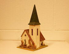 Vintage 1950's Era Faller HO OO 239 Composition Stucco Church W/ Working Bell