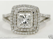 2.08 Ct Princess Cut Diamond Solitaire Engagement Ring 14ct White Gold
