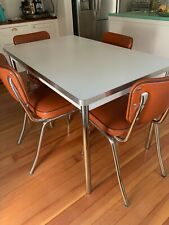 Crate and Barrel Retro Breakfast Nook Dining Set - 4 chairs 2 stools