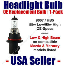 Headlight Bulb High/Low OE Replacement Fits Listed Mazda & Mercury Models - 9007