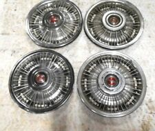67 68 69 PONTIAC GTO LEMANS GRAND PRIX FIREBIRD 14 INCH WIRE WHEEL COVERS