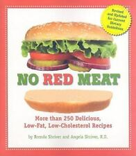 No Red Meat: More Than 250 Delicious, Low-Fat, Low-Cholesterol Recipes-ExLibrary
