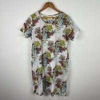 Lazy Bones Womens Dress XL Multicoloured Isle Of Capri Short Sleeve Round Neck