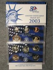 2003-S United States Proof Coin Set - Sac Half Nickel Dime Cent & State Quarters