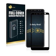 Protector cristal templado completo 3D curvo para Samsung Galaxy A8 (2018) negro