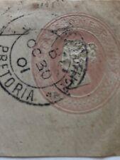 1901 QV Stationery Piece Boer War Pretoria Cancel