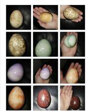Polished stone eggs 6 gem, crystal, mineral, stone