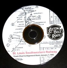 St Louis Southwestern Rwy (Cotton Belt) 1982  Track Chart PDF Pages on DVD