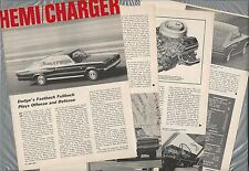 1967 DODGE CHARGER Road Test article, Drivers Report, Charger fastback