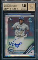 BGS 9.5 AUTO 10 WANDER FRANCO 2019 Bowman Chrome Autograph Rookie RC GEM MINT