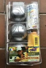 New Abut Steel Competition Standard Boule / Petanque 3 Ball Set