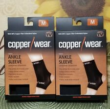 LOT OF 2 Copper Wear Compression Ankle Sleeve, MEDIUM NEW