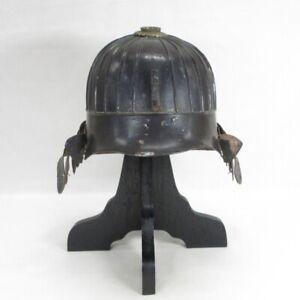 D1278: Real old iron Japanese SUJI KABUTO (helmet) of SAMURAI's armor YOROI