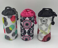 NEW Thirty one bring bottle thermal pouch Organic poppy pink pop 31 NO carabiner