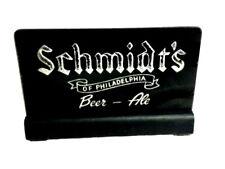 Schmidt's beer sign ROG reverse painted glass cash register topper sign vintage