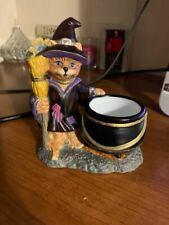 Partylite Candle Holder Halloween Cat Witch Abracadandle Votive Tealight~L@K!