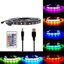 3M 5V USB RGB LED Strip TV Back Lights IP65 Xmas Party Club Lighting Cupboard