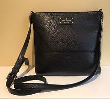 Authentic Black Kate Spade Bay Street Cora Leather Purse Cross Body Bag Handbag