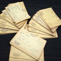 Ephemera lot  junk journaling handwriting vintage 3/4 lb prescriptions paper Rx