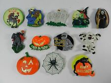 Halloween Kitchen Rubber Fridge Magnet Large Mummy Witch Monster Lot of 12