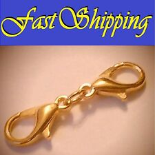 1 INCH GOLD DOUBLE LOBSTER CLAW CLASP NECKLACE BRACELET EXTENDER EXTENSION CHAIN