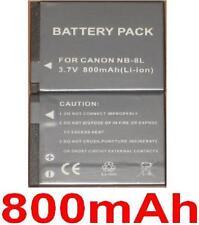 Batería 800mAh tipo NB-8L NB8L Para Canon PowerShot A3000