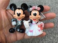 Disney Mickey & Minnie Wedding Dress Suit Figure Cake Decoration New Loose 6CM