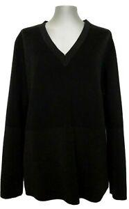 COS BLACK V-NECK SWEATER, L, $165
