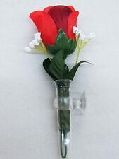 Kamei Vase Blumenvase Armaturenbrett VW Käfer Beetle mit Blume / Rose