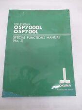 Okuma CNC Systems Manuel OSP7000L/OSP700L - bon état utilisé