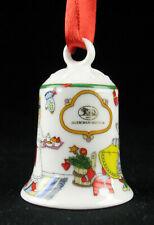 Hutschenreuther Porzellan Weihnachten Miniglocke Baumschmuck - xmas porcelain