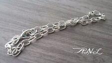 10 Charm Bracelets Shiny Silver Link Bracelets Wholesale Bracelet Blanks