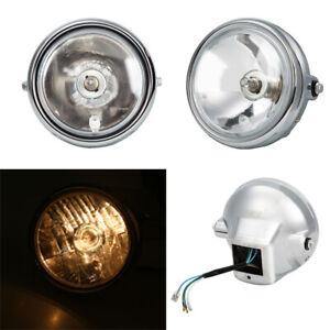 Front Chrome Motorcycle Headlight Head Lamp Assembly For Honda CM125 Amber Light