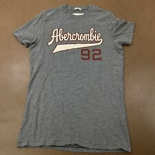 Abercrombie & Fitch Men's Size Large MUSCLE Gray Short Sleeve T-Shirt