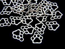 "25 Pcs - Tibetan Silver Dainty "" Dog "" Paw Print Charms Jewellery Craft Pet U156"