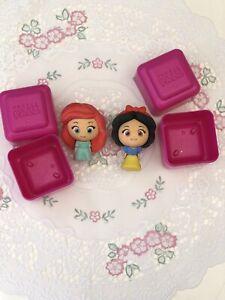 2 X Disney Princess 3D Puzzle Erasers Snow White Little Mermaid