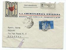 FRANCOBOLLI 1948 REPUBBLICA COSTITUZIONE 30 LIRE SU RACC BOLOGNA 6/7 D/6086