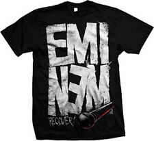 Eminem-Recovery Microphone-X-Large Black T-shirt
