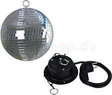 PARTY KELLER CLUB DJ DISCO KUGEL SPIEGELKUGEL 20 CM MIT MOTOR + SAFETYÖSE NEU