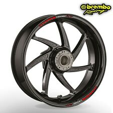 Brembo wheel rim stickers decals - many choice of 20 colours -