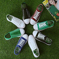 Womens Casual Canvas Sport Shoes Running Breathable Sneakers Flats lace up Shoes