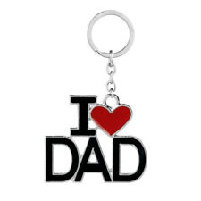Keyring Keychain Charm Jewelry Father's Gifts Family Papa Dad Red Pendant Heart