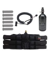 Maddog Sports 6+1 Paintball Harness Pods 48/3000 Hpa Tank Standard Remote Coil